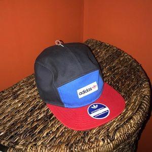 Adidas Red & Blue 5 Panel Hat